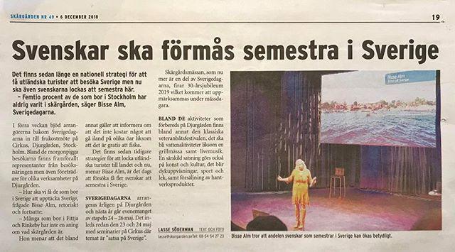 Nu satsar vi på Sverige! Läs artikeln från vårt frukostmöte @cirkusarenor Skandiascenen. www.sverigedagarna.se/satsa