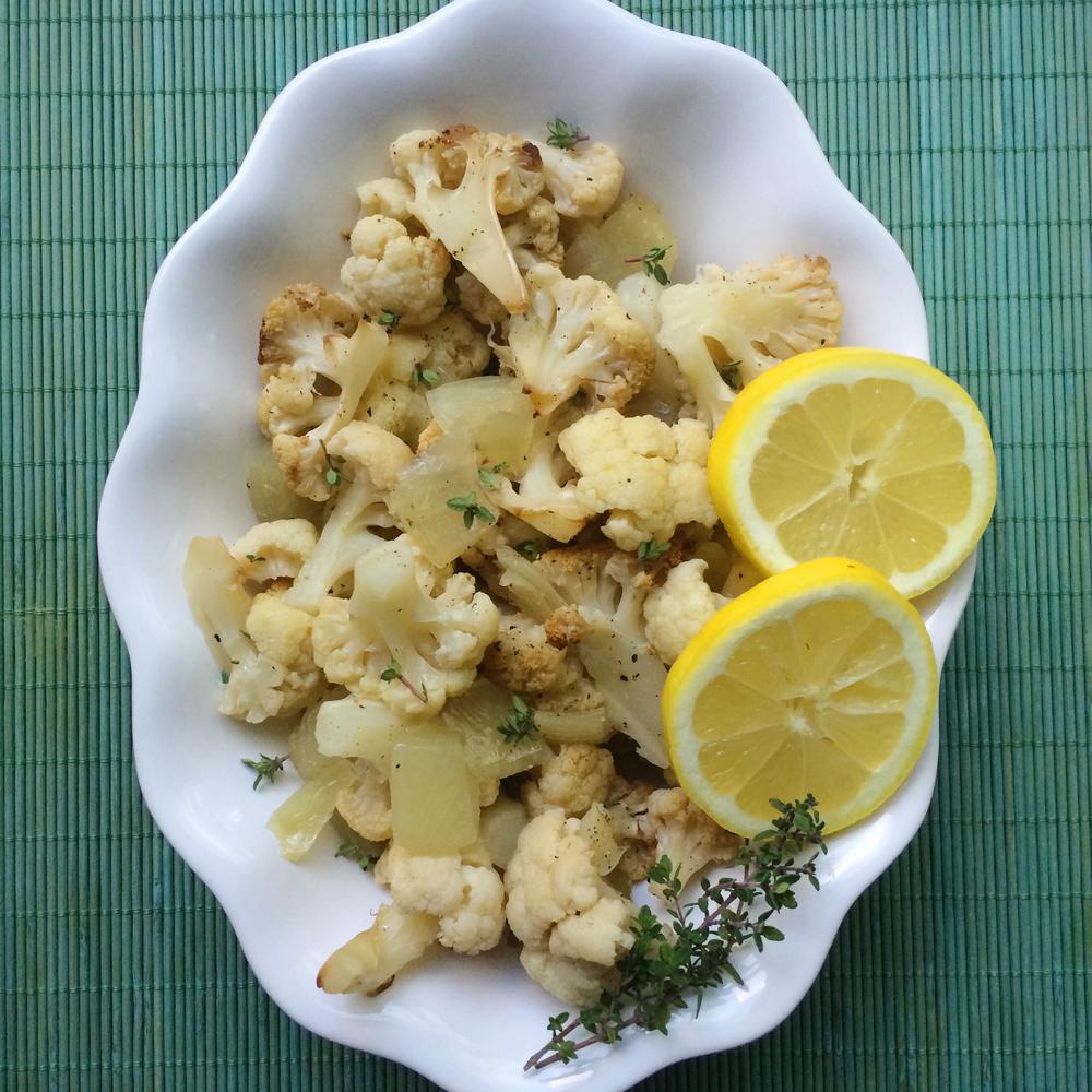 Solar oven roasted cauliflower recipe