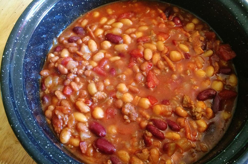solar oven baked beans