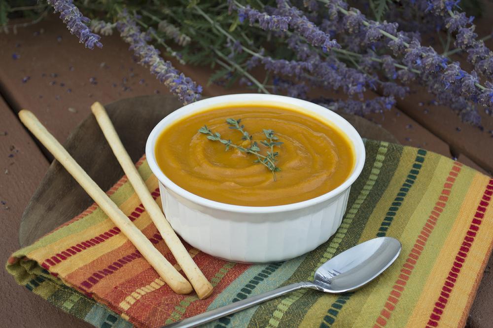 solar oven pumpkin soup