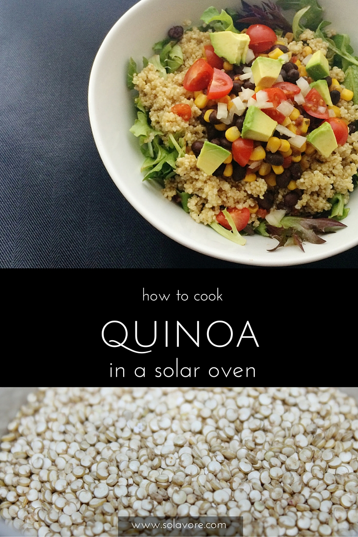 how to cook quinoa in a solar oven