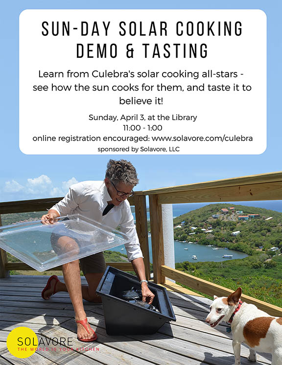 solavore solar cooking demo inn culebra