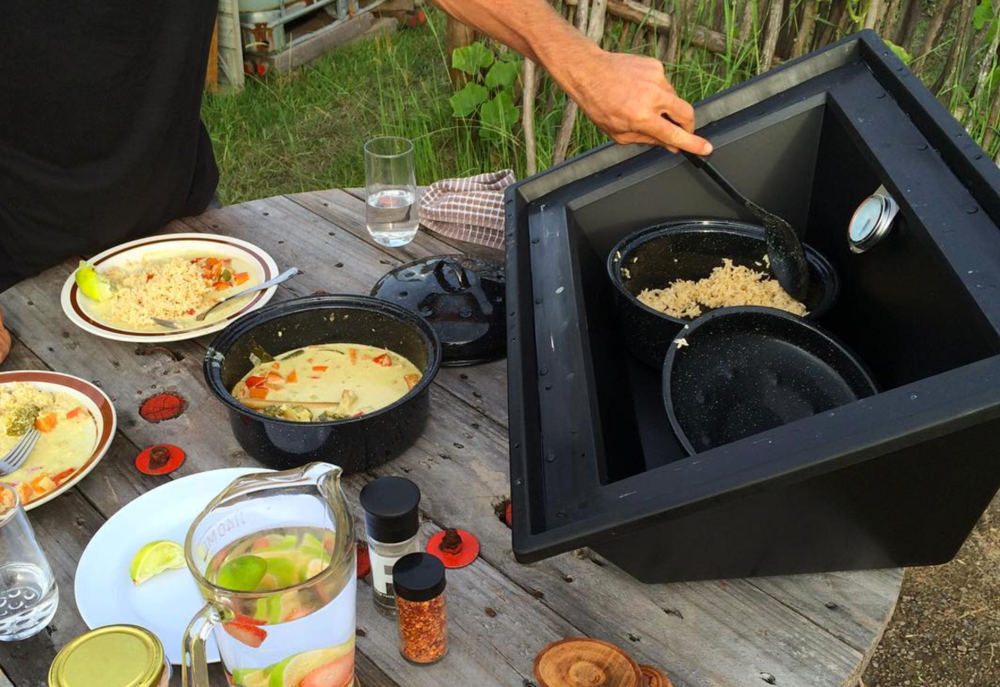 tiny house solar cooking with the Solavore Sport