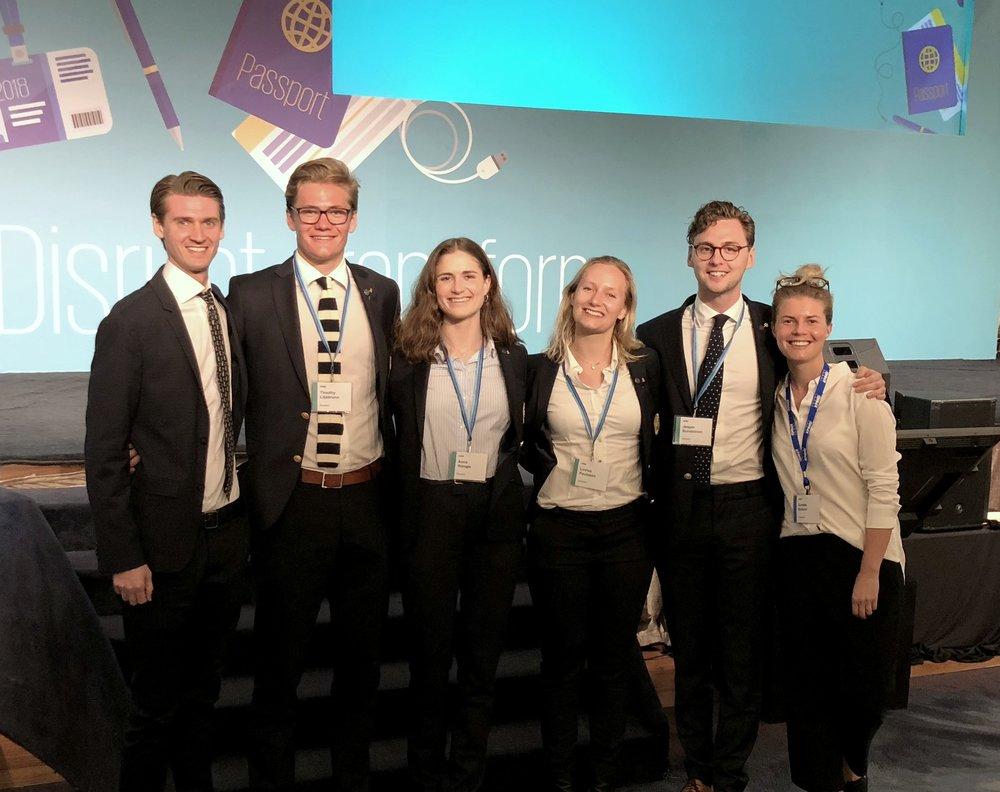 Bild från årets tävling i KPMG International Case Competition (KICC)