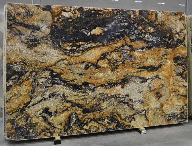 Blue Black And Gold Marble Blue De Savoie European Granite