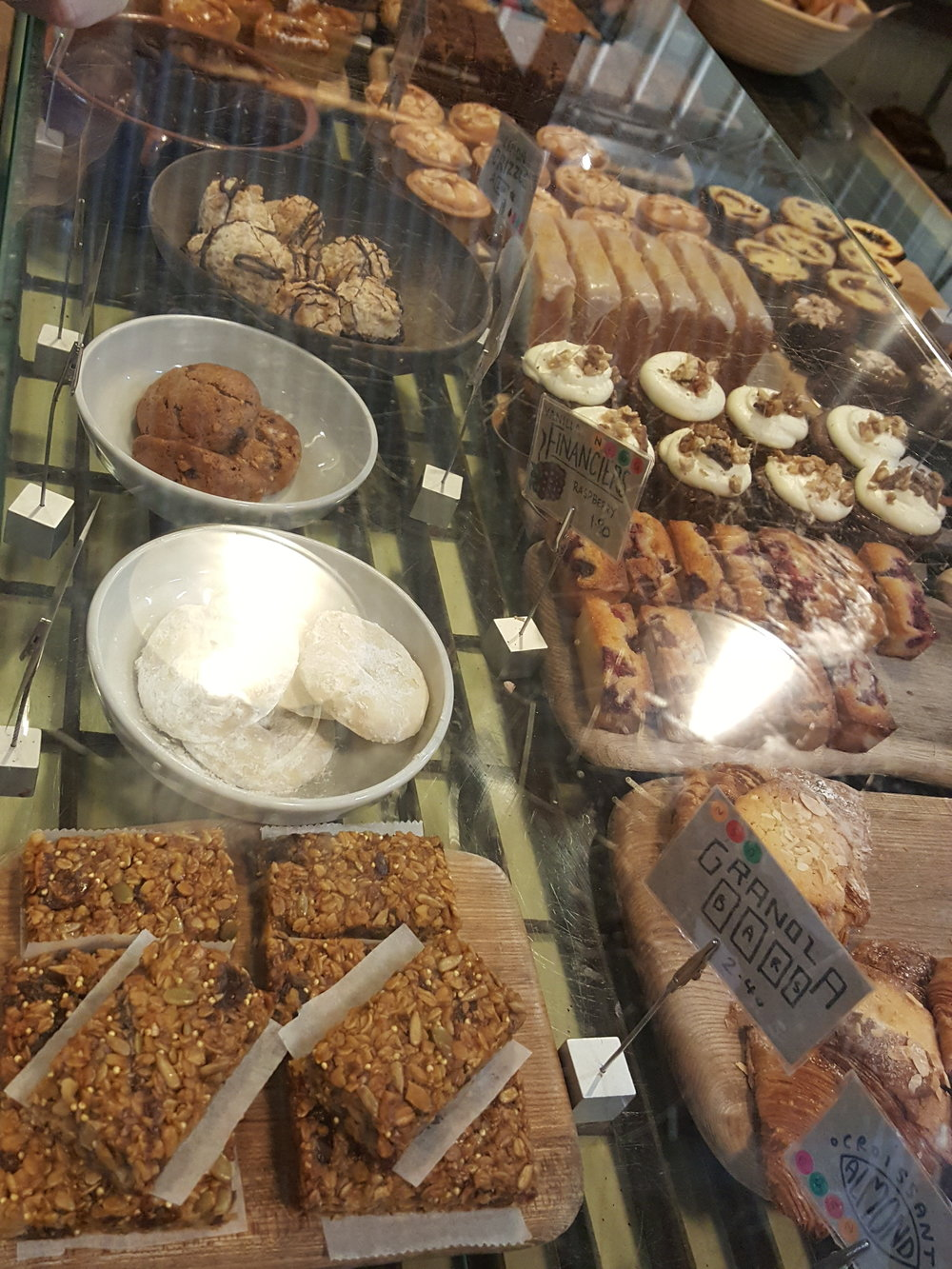 The counter of goodies at E5 Bakehouse. I forgot to take a pic of the bread, ugh!!