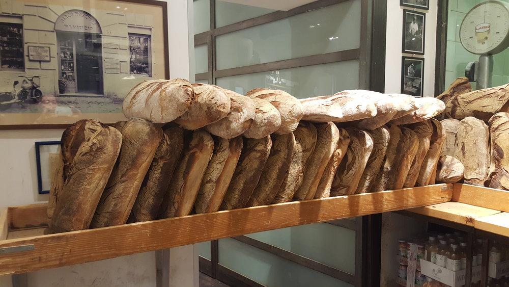 Bread on bread at Roscioli!