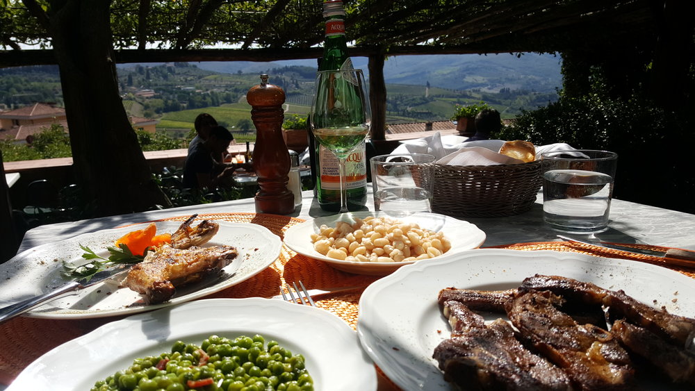 Ristorante Oltre il Giardino in Panzano has amazing views of the Chianti landscape.  Great food too!