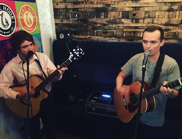 Jake and Brian will be holding it down @momentumbrewhouse this Saturday from 6-9pm. Any song requests? Comment below and we'll give it a shot. Cheers 🍻
