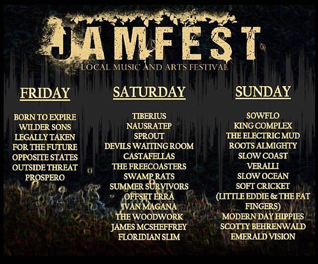 We are stoked to be playing this year's #JAMFEST! Who's comin?!
