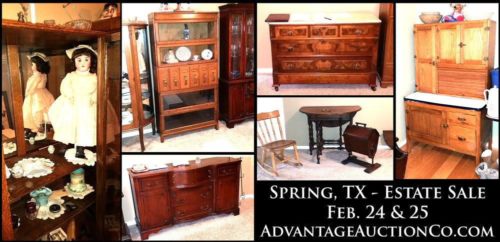 Spring, TX - Antiques Estate Sale — Advantage Auction Company
