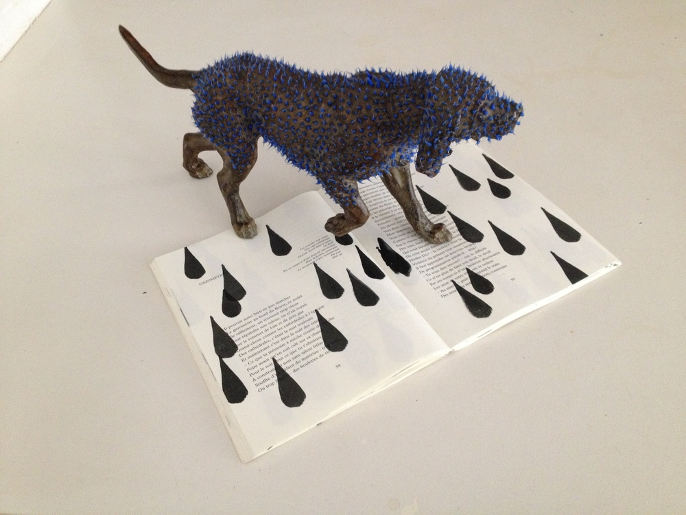 lost dog   livre serigraphie, acier et silicone