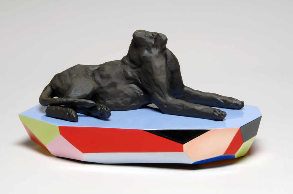 I dreamt of a black dream   porcelain - enamel -  40 x 18 x 15 cm