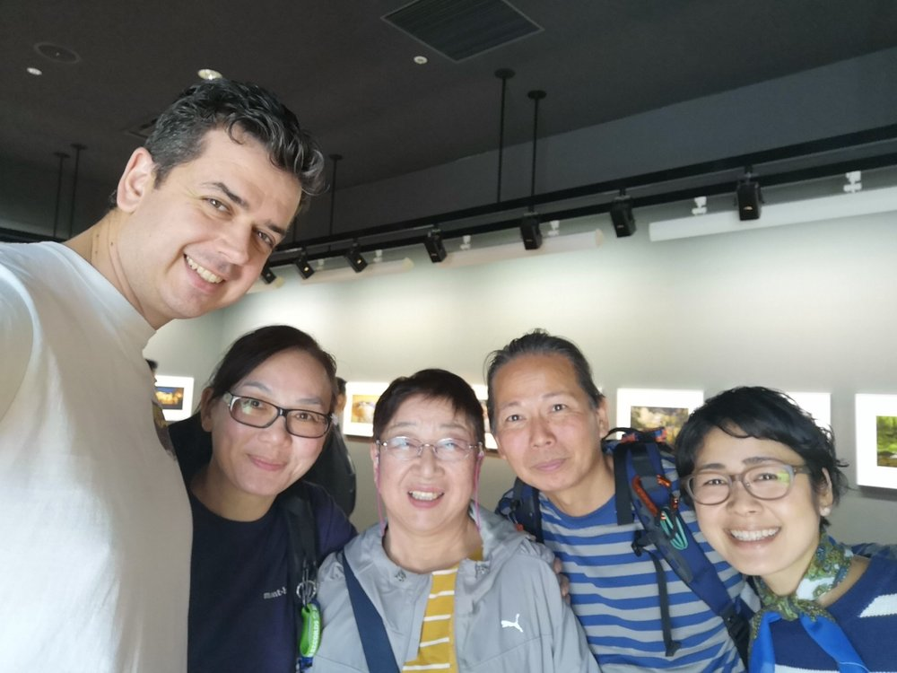 Tony, Winnie from Hong Kong and their friend Kyoko with Me and Masae