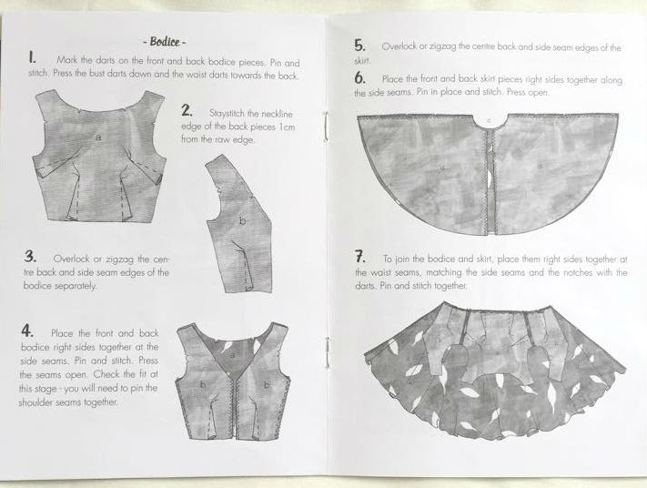 The Betty Dress instruction booklet