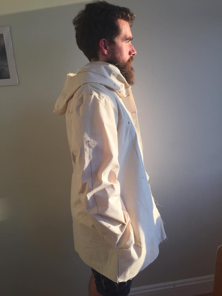 Albion jacket toile side view