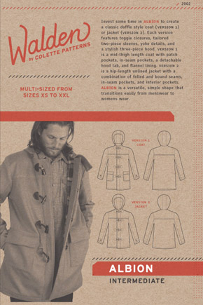 Albion jacket pattern front