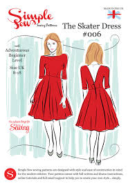 The Skater dress pattern by Simple Sew came free with Love Sewing last Christmas.