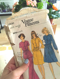 Really excited by this one - vintage Vogue 8930. I won't be sewing those trousers though....