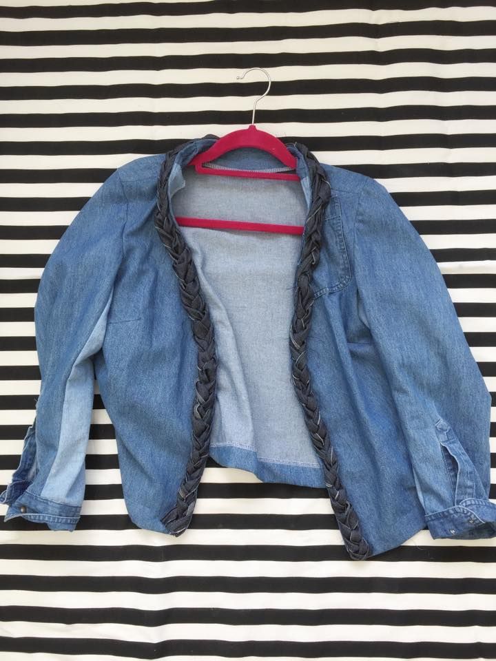 The denim jacket refashion - a couple of ugly shirts into a lovely jacket!