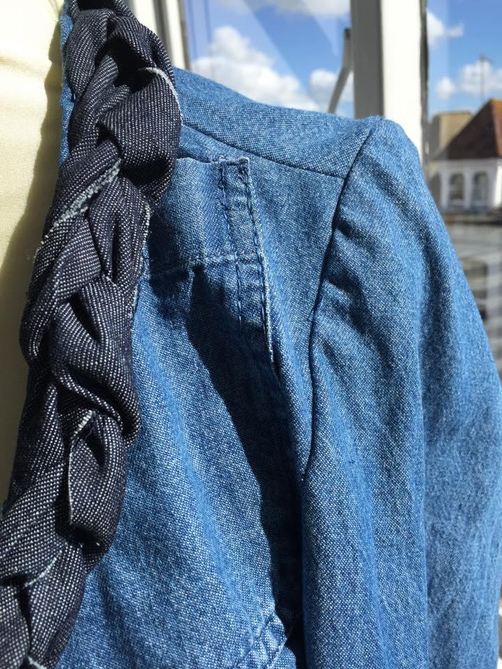 I sewed half of the original pocket back on to make it a bit different