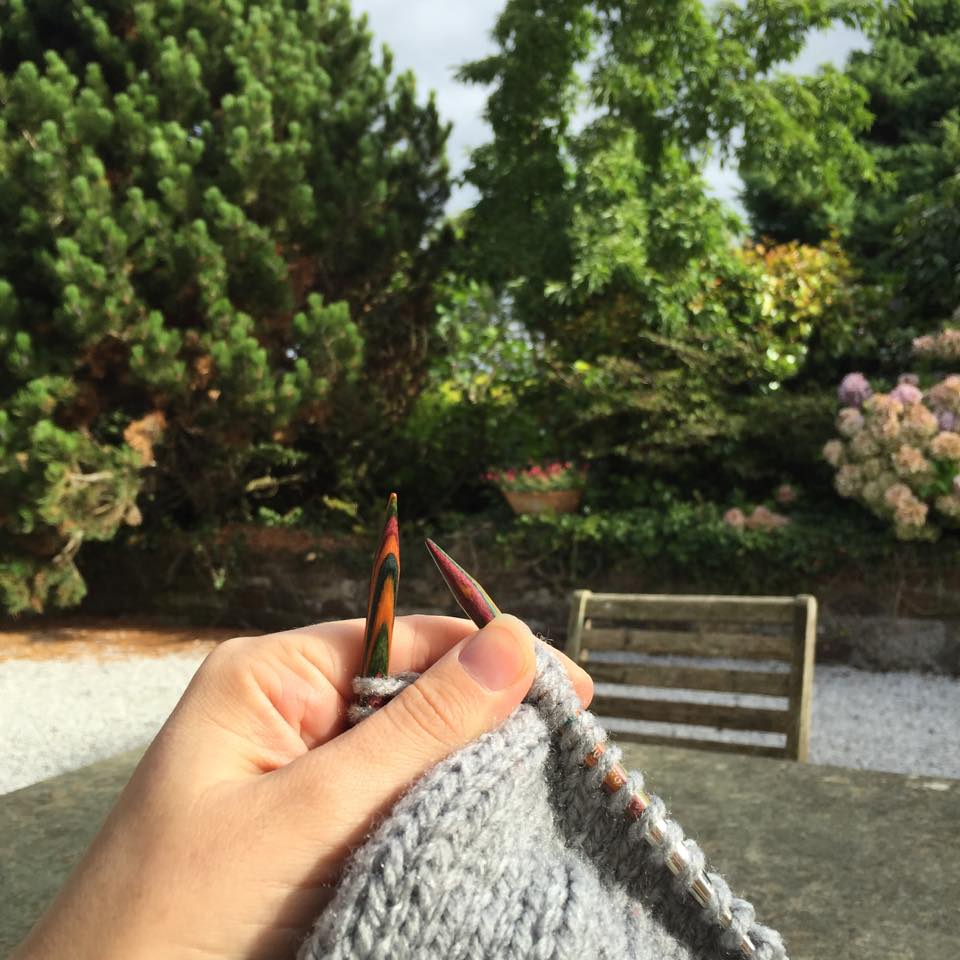 There is no better place to knit than Cornwall when it's sunny. It's so peaceful.