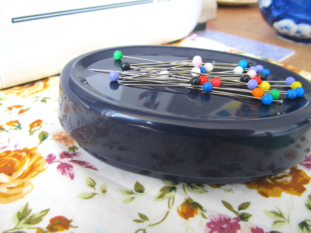 A magnetic pin cushion - life made easier! This one is by Prym so you know you can trust it.