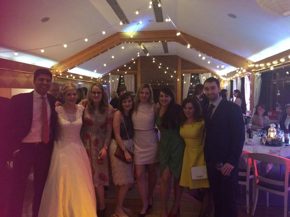 Such a beautiful day - sorry for the quality it was taken on a mobile phone. Here are my University brothers and sisters and of course the wonderful bride.