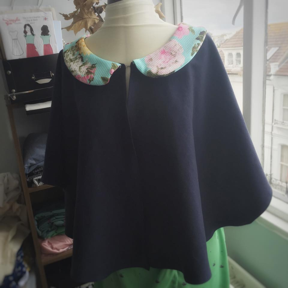 My easy sew DIY cape - not the most complicated of projects but its a great project to give you a little boost!