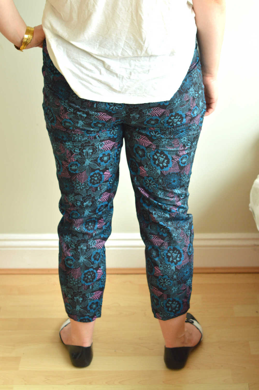 Capri trousers back view