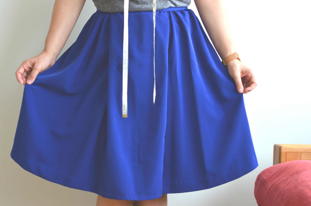 Box pleated skirt - flared