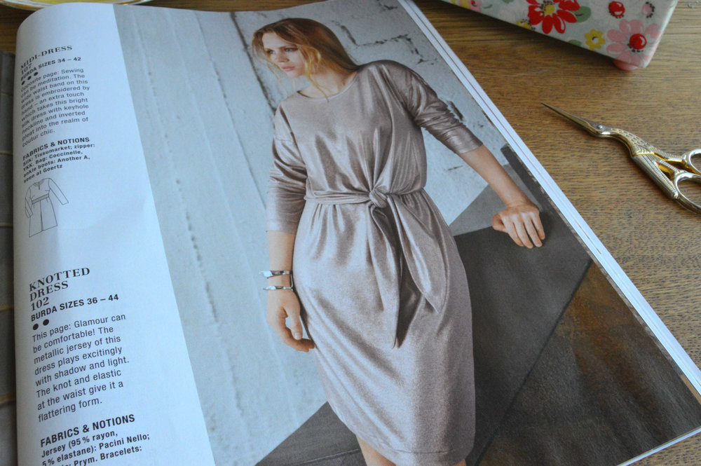 Burda style autumn 2016 knotted dress