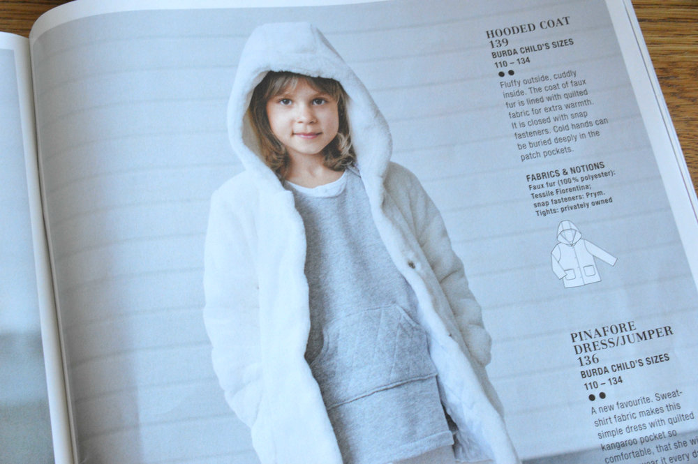 Burda style autumn 2016 fur coat toddler