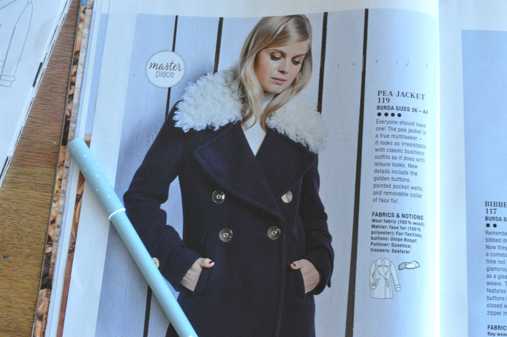 Burda style autumn 2016 pea jacket