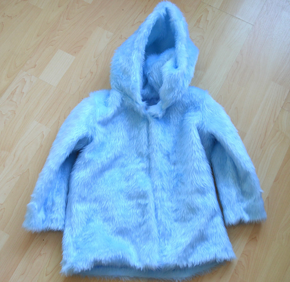 Faux fur coat Burda