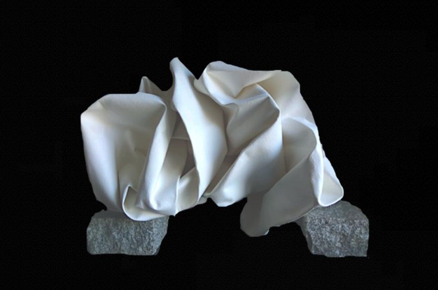 Título: Rocas de la Pedriza 4    Medidas: 60 x 40 x 40 cm.  Materiales: Papel Arches forjado