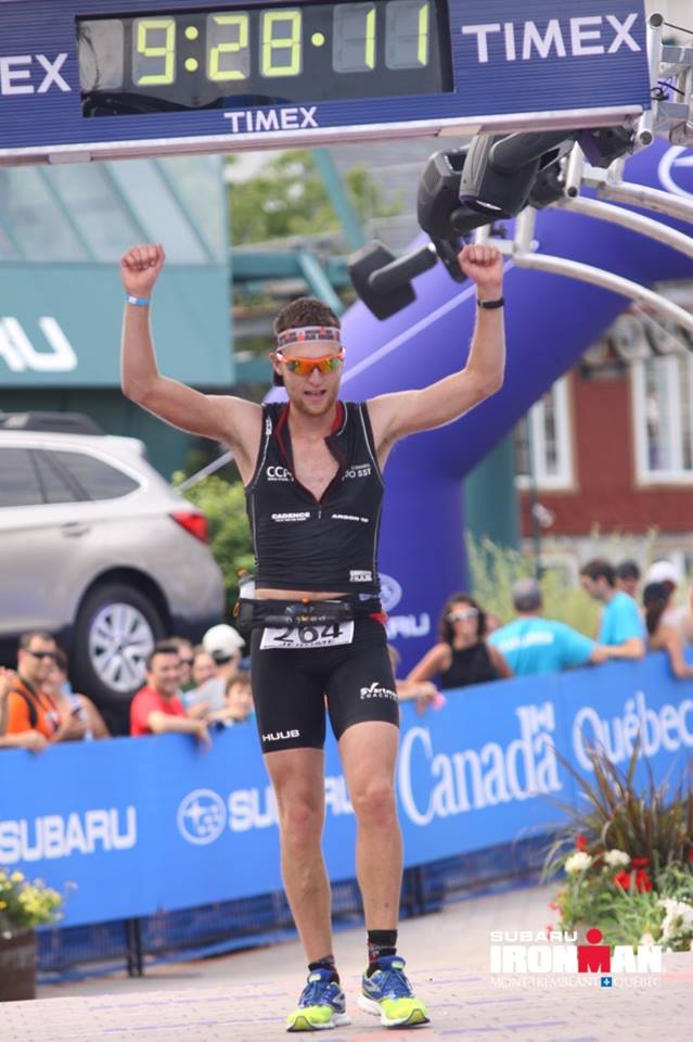Congrats to Jerome McEnery for winning the super competitive 24-29 AG at the Ironman Mont-Tremblant (beating out 18 pros in the process!)