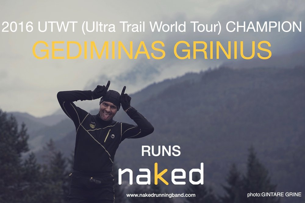 Congratulations to Gediminas Grinius for his 2016 championship season; we're proud that he counts on Naked running band for his hydration and accessory carrying needs.