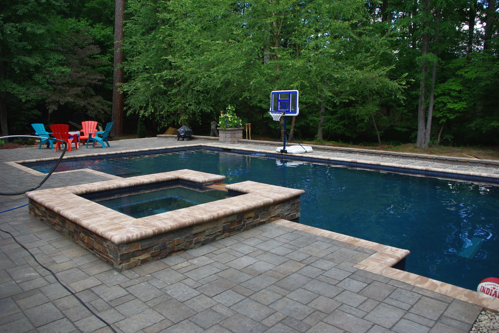 New Pool Construction- 3D Landscape Design Chapel Hill, NC