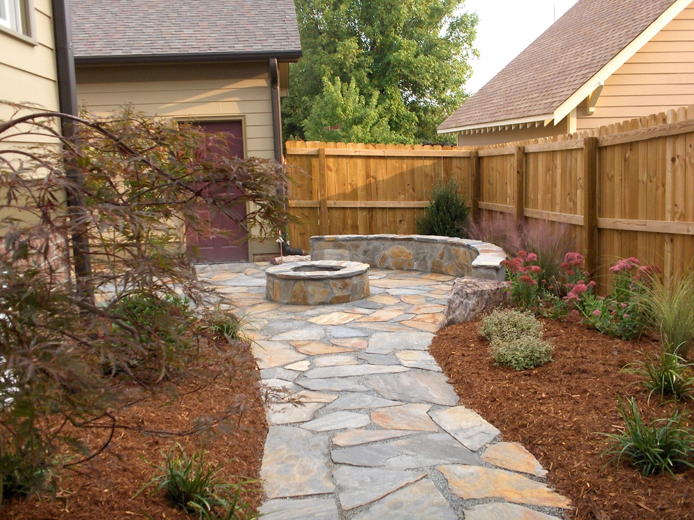 Backyard Patio and Firepit- 3D Landscape Design Greensboro NC