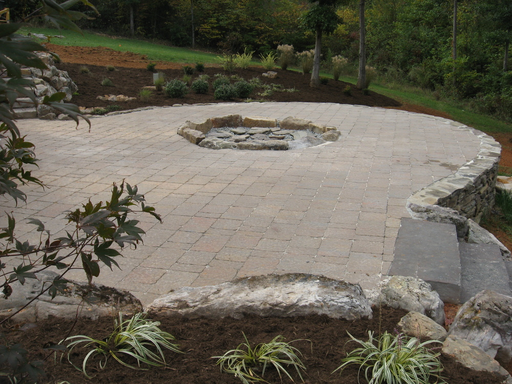 Outdoor Firepit Area- 3D Landscape Design Burlington NC