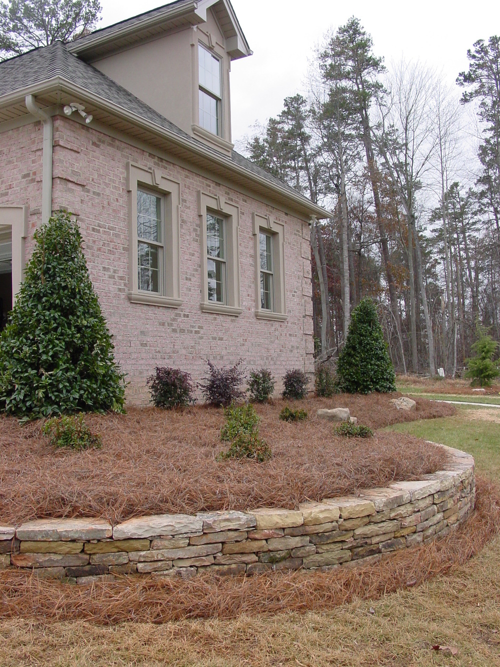 Front Retaining Walls- 3D Landscape Design Burlington NC