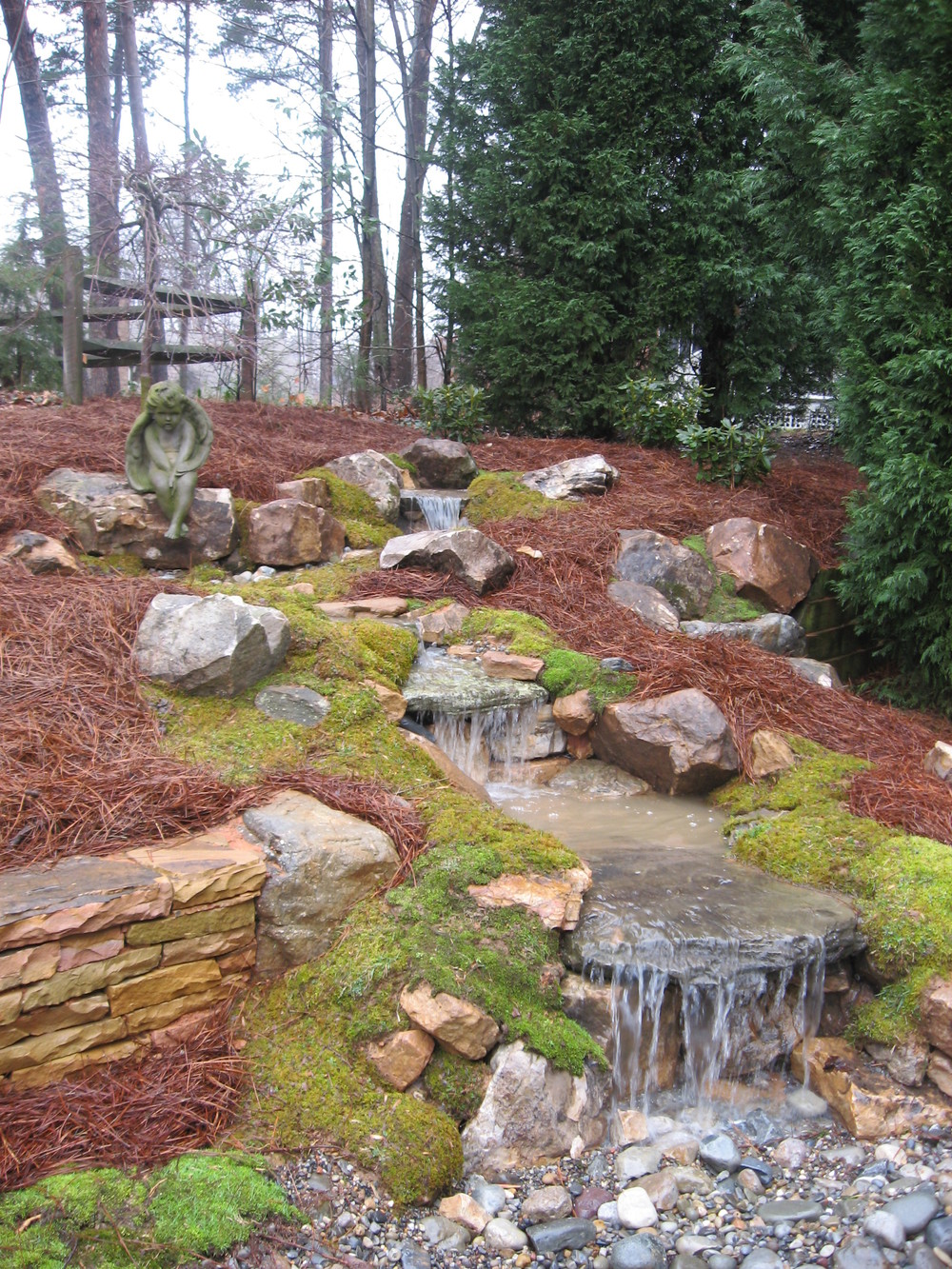 Pondless Water Feature- 3D Landscape Design Greensboro NC
