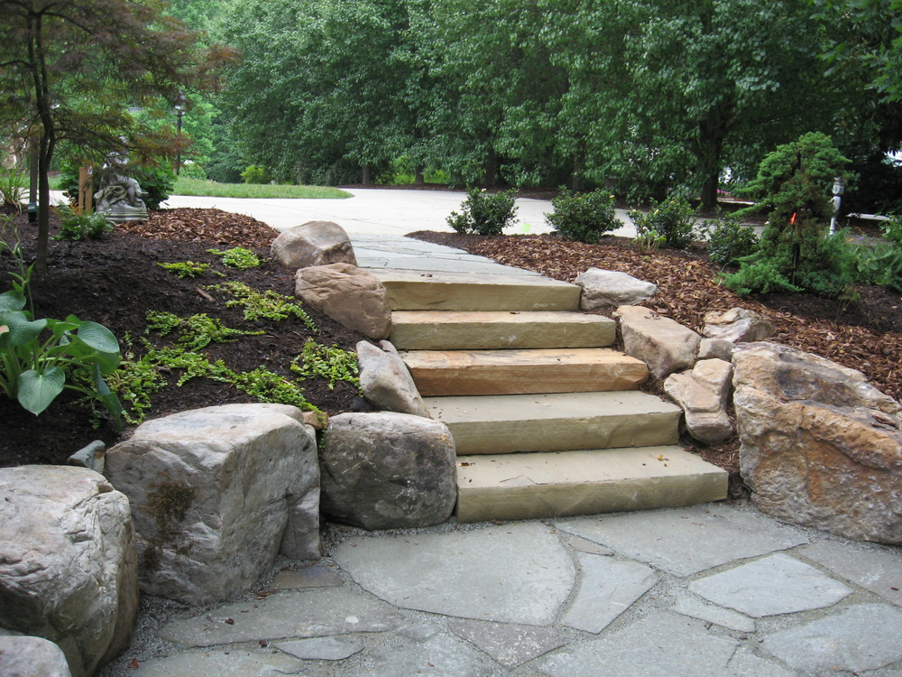 Stone Steps- 3D Landscape Design Oak Ridge, NC