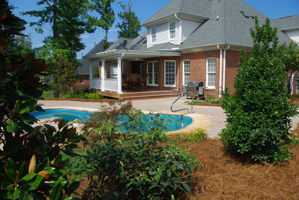 Existing Pool Renovation- 3D Landscape Design Greensboro, NC