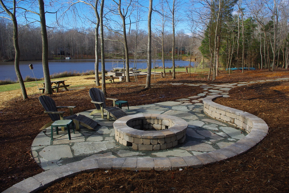 Bluestone Patio- 3D Landscape Design Hillsborough NC
