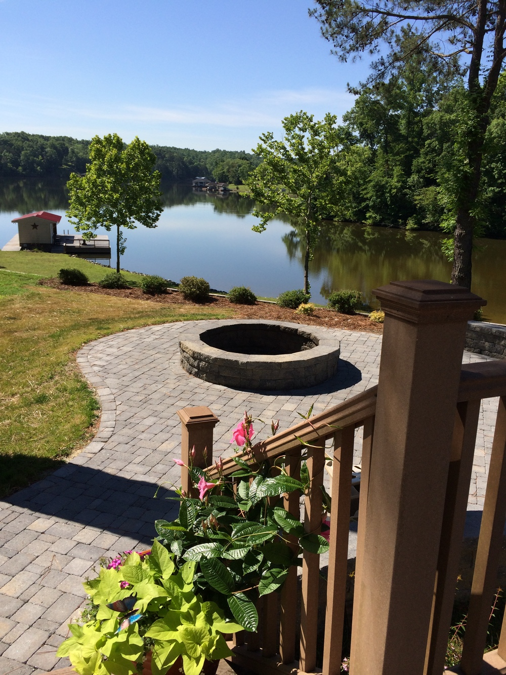 Outdoor Room with Firepit- 3D Landscape Design Hyco Lake NC