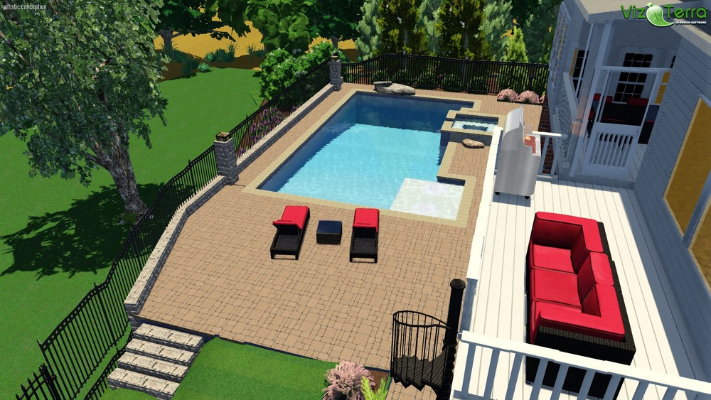 3D Pool Design- Chapel Hill, NC