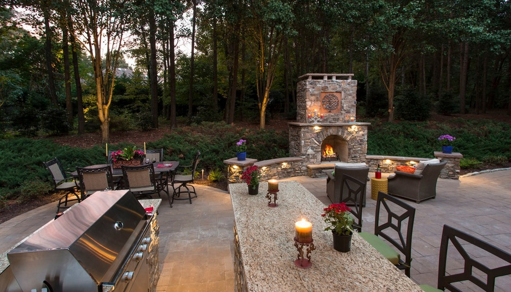 Outdoor Room- 3D Landscape Design Greensboro, NC
