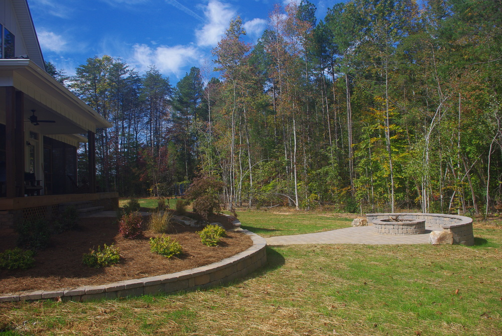 Firepit Patio- 3D Landscape Design Oak Ridge, NC
